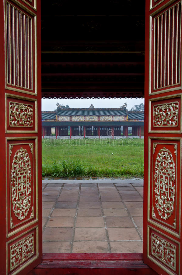 Download Red Wooden Doors And Temple, Hue Citadel Royalty Free Stock Photos - Image: 23622828