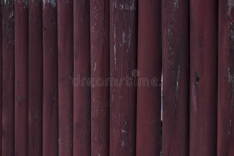 Red wooden fence can use for background stock photos