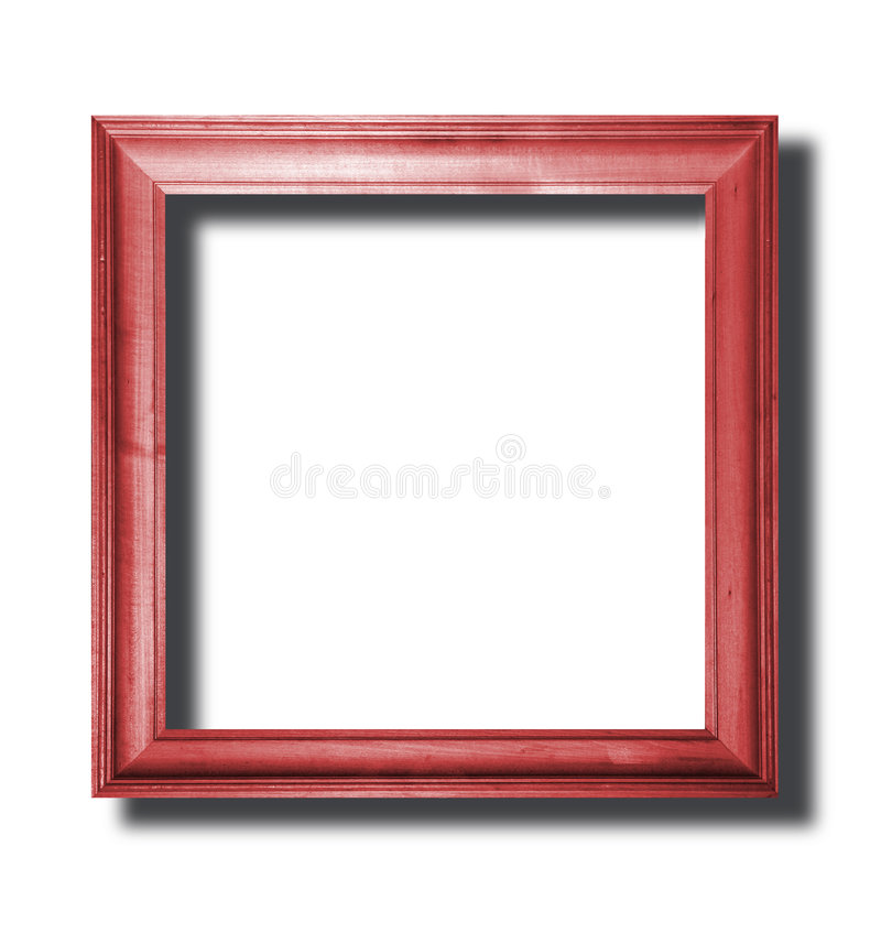 Red wooden frame stock photography