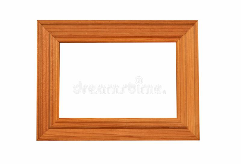 Red wooden frame royalty free stock photo