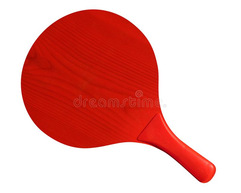 Wooden tennis racket - Red royalty free stock photo