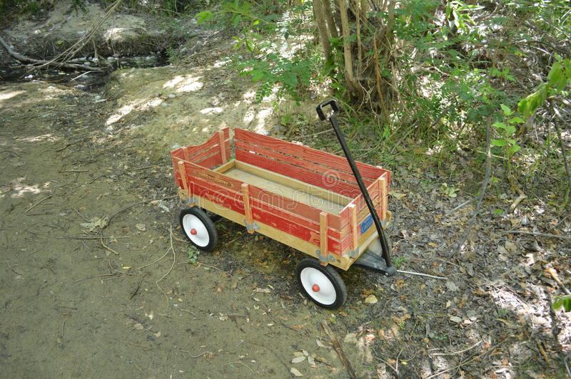 Download Red Wooden Wagon In The Woods, Boise Greenbelt Stock Image - Image of woods, fashioned: 82197739