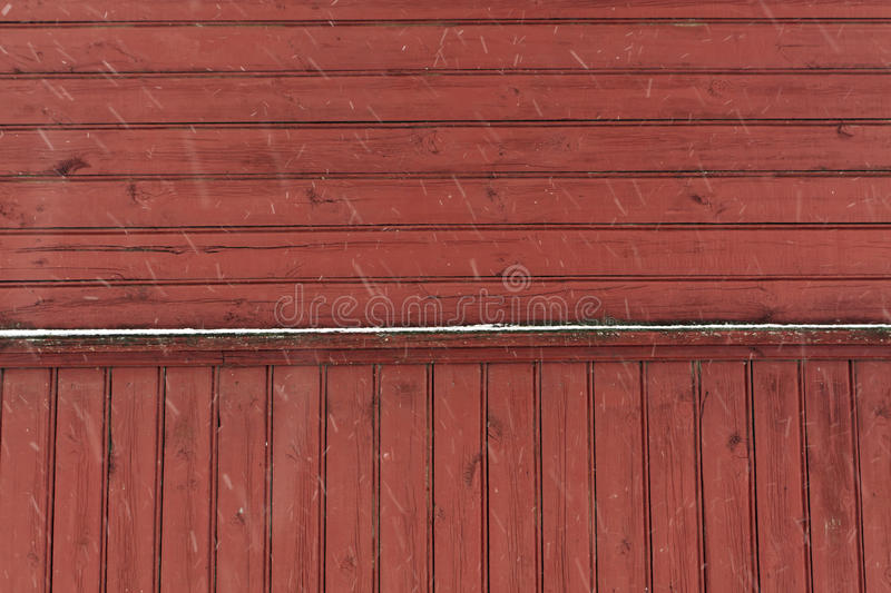Red wooden wall texture. stock image