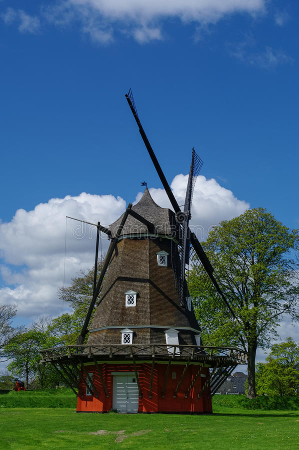 Download Red Wooden Windmill In Kastellet Fortress The Old Military Fort  Stock Photo   Image Of