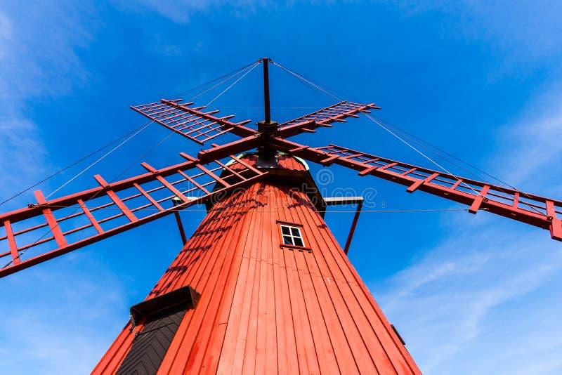 Download Red wooden windmill stock photo. Image of door, generator - 36738180