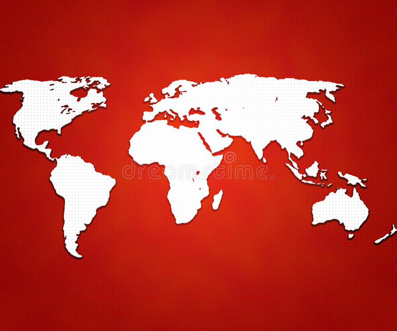 Red World Map Background vector illustration