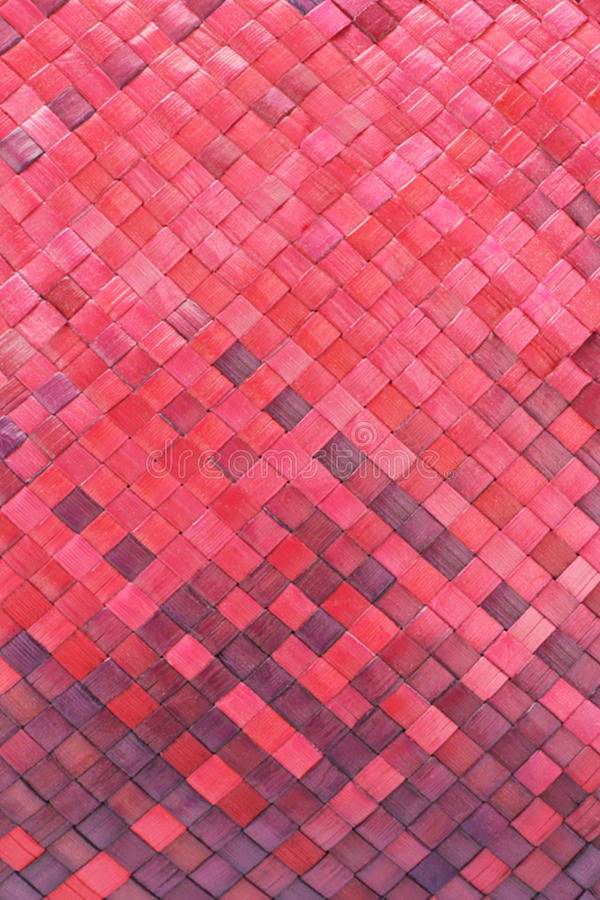 Download Red woven palm leaves mat stock photo. Image of braided - 13748980