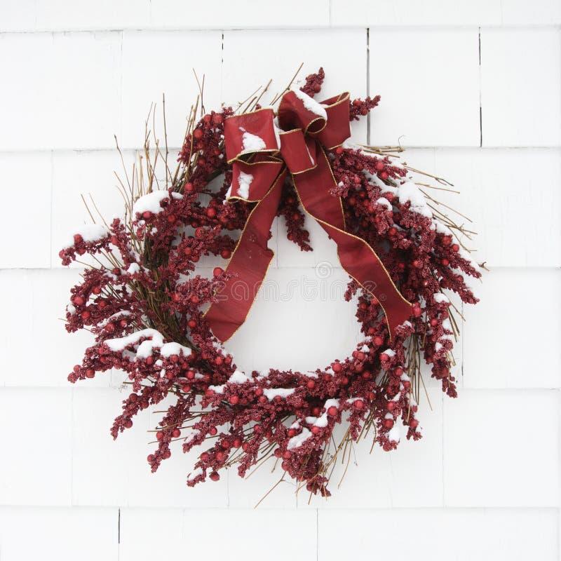 Red wreath. stock photo