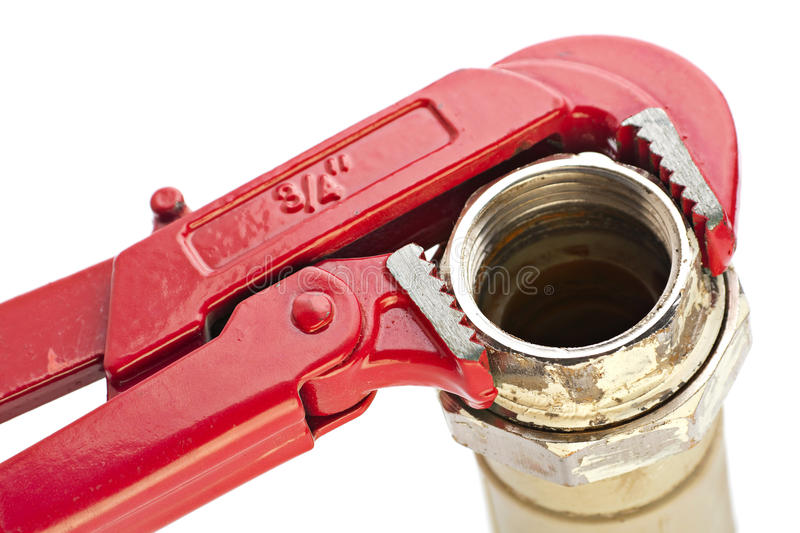 Download Red wrench stock image. Image of adjustable, wrench, hard - 26140875