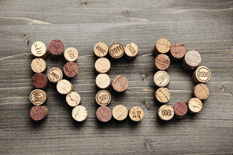 Download RED written with corks stock image. Image of year, typo - 32506733