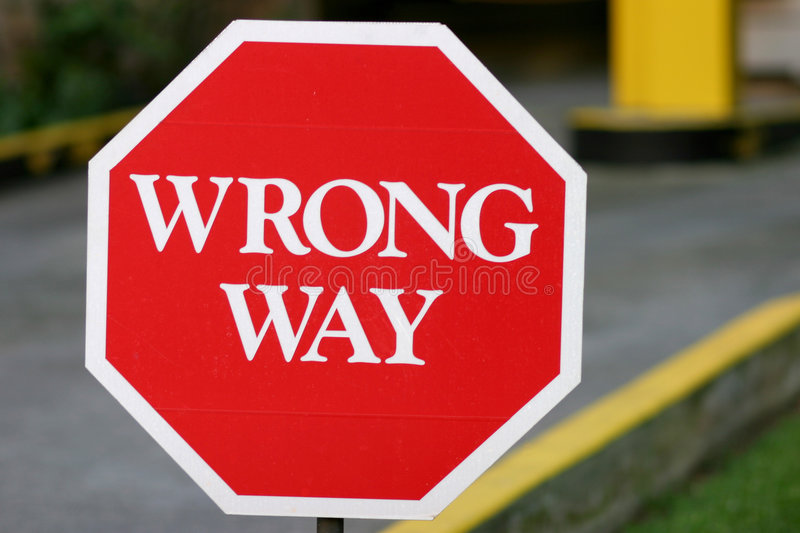 Download Red Wrong Way Sign Stock Images - Image: 1704