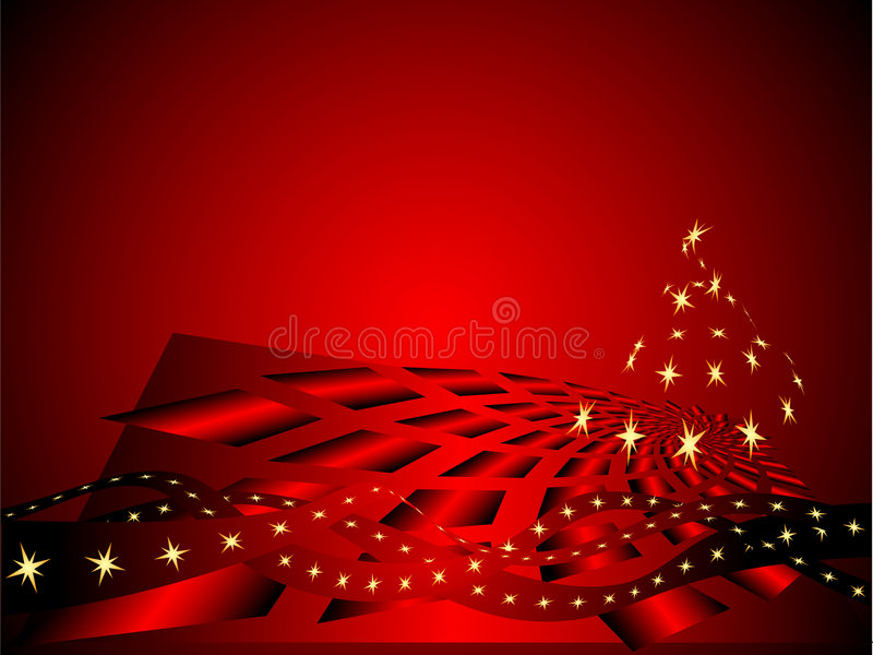 Red xmas background stock illustration