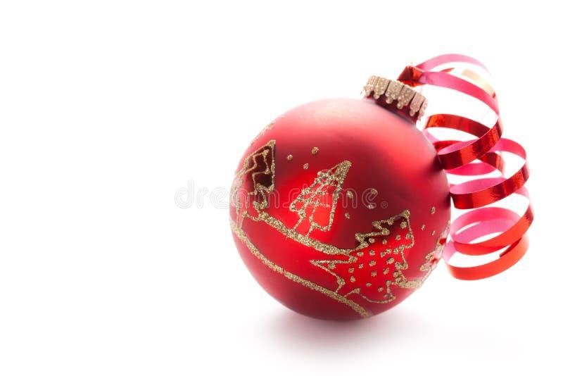 Red Xmas Ball Stock Photo