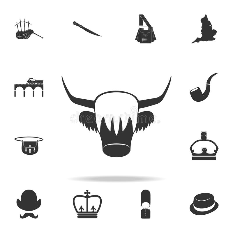 Red Yak icon. Detailed set of United Kingdom culture icons. Premium quality graphic design. One of the collection icons for websit royalty free illustration