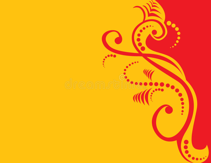 Red And Yellow Abstract royalty free illustration