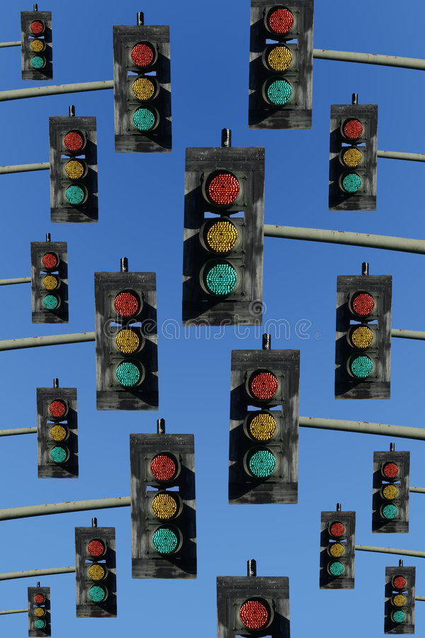 Free Red, Yellow And Green Traffic Lights Royalty Free Stock Photography - 4163207