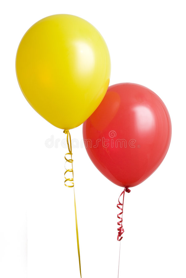 Red and Yellow Balloon royalty free stock photo