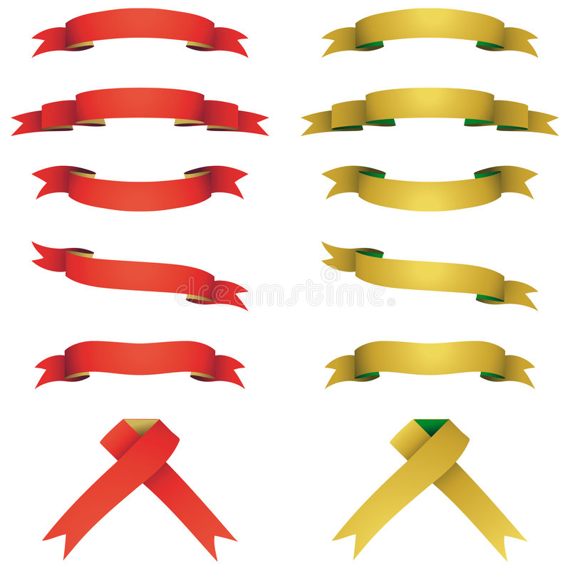 Download Red and yellow banners set stock vector. Illustration of vector - 7450049