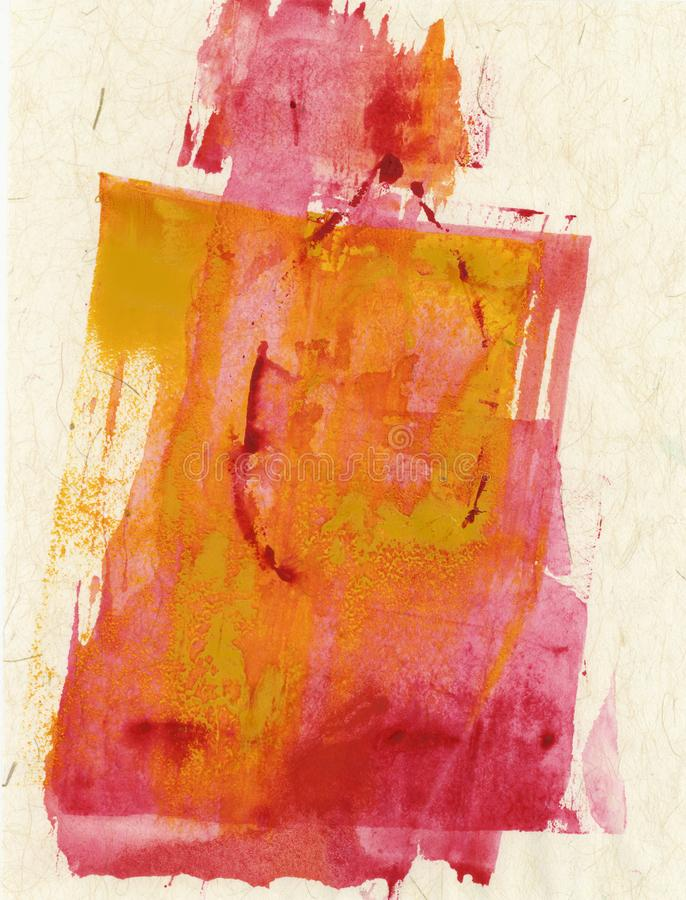 Red Yellow On Beige Textures Abstract Painting royalty free stock photo