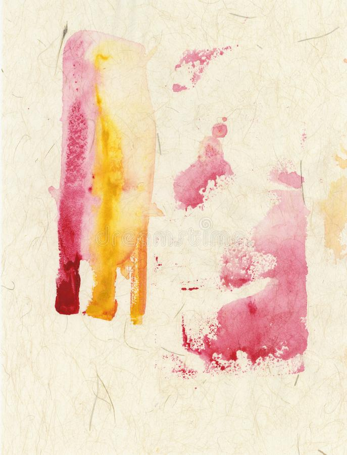Red Yellow On Beige Textures Abstract Painting stock images