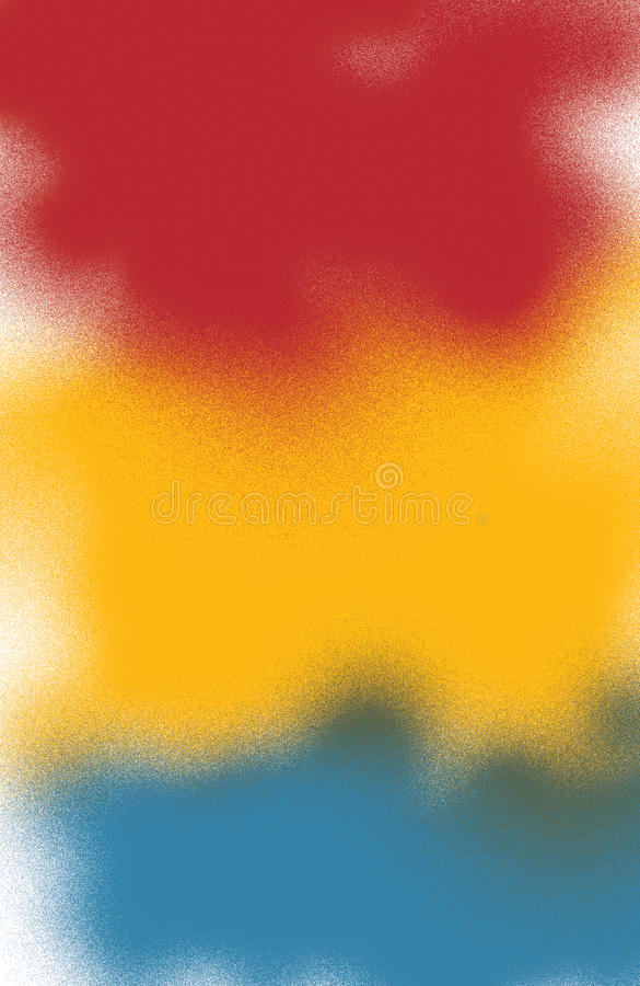 Red Yellow Blue Background. This colorful, freestyle background is reminiscent of '50s jazz album graphics. From Jazz: Cool Birth illustrator Gary Scott Beatty royalty free illustration