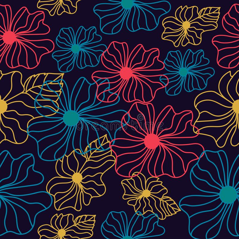 Red,yellow and blue seamless pattern vector illustration