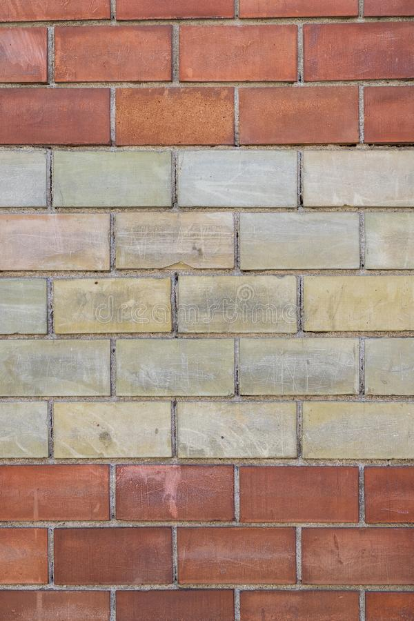 Red and yellow brick wall texture royalty free stock image