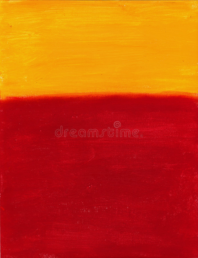 Red and Yellow Canvas. Red and Yellow painted canvas