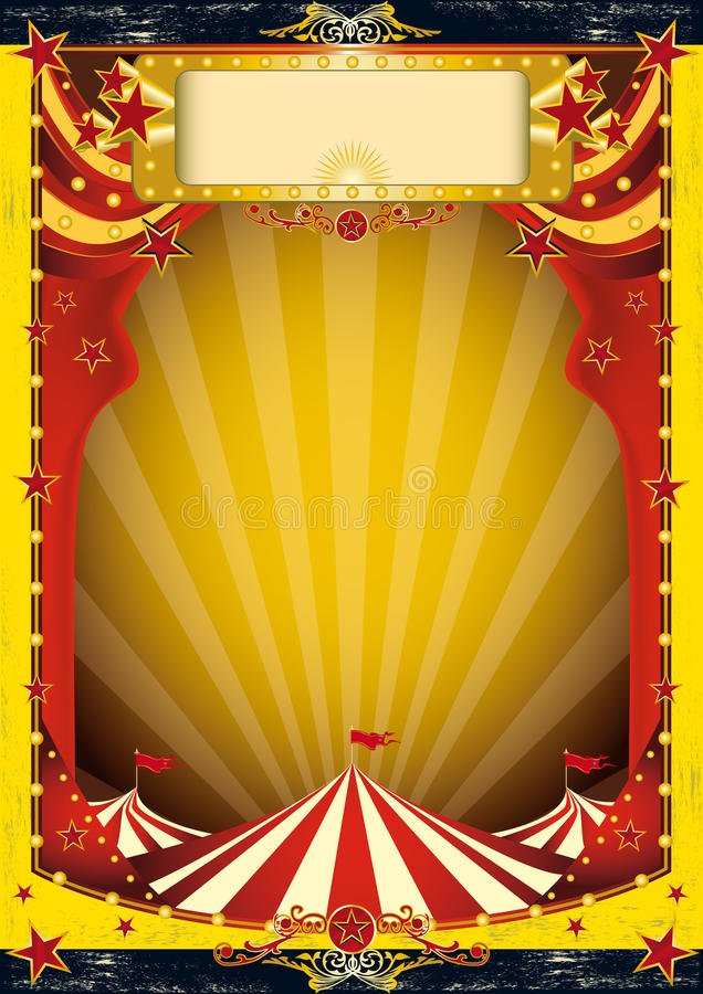 Red and yellow circus royalty free illustration
