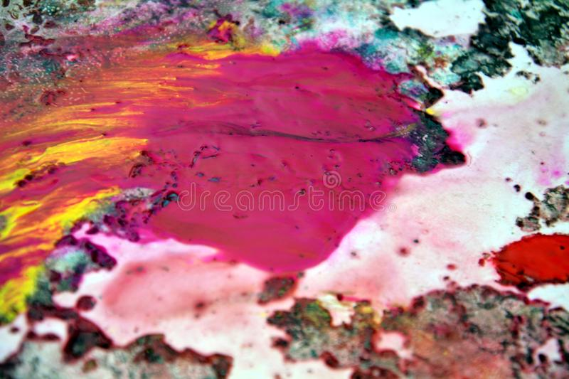 Red yellow dark spots, painting watercolor background, painting abstract colors royalty free stock photography