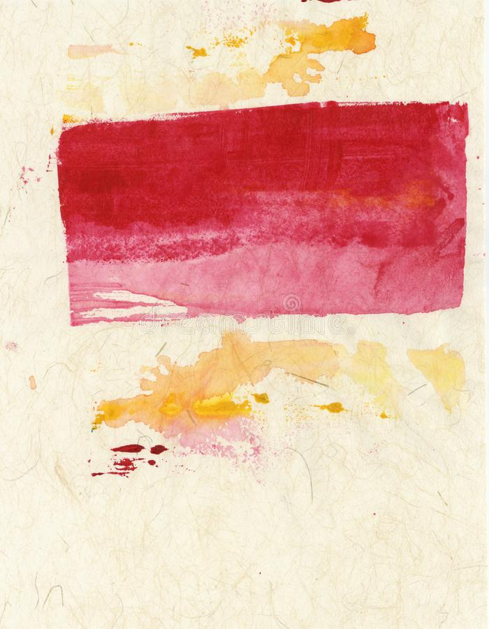 Red Yellow On Beige Textures Abstract Painting stock photo
