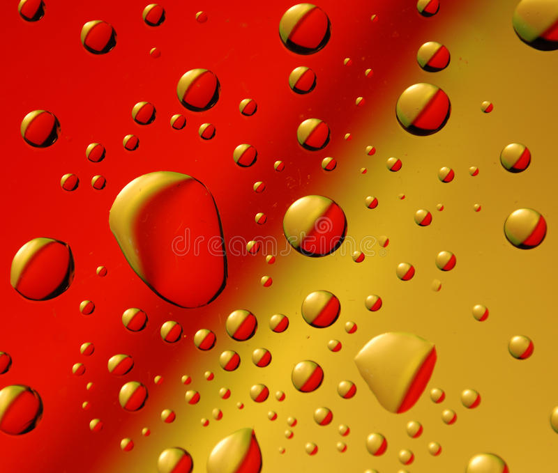 Red-yellow drops stock photography