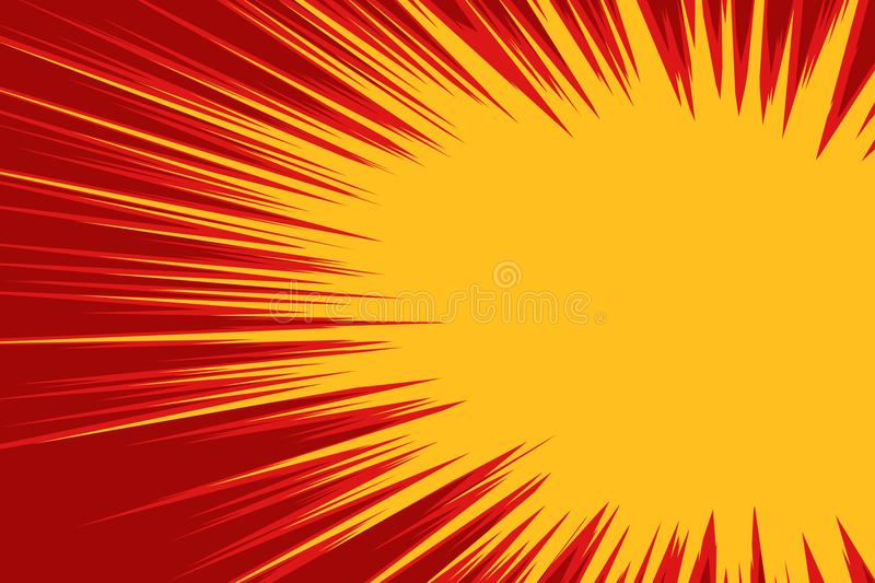 Red yellow explosion comic vector illustration