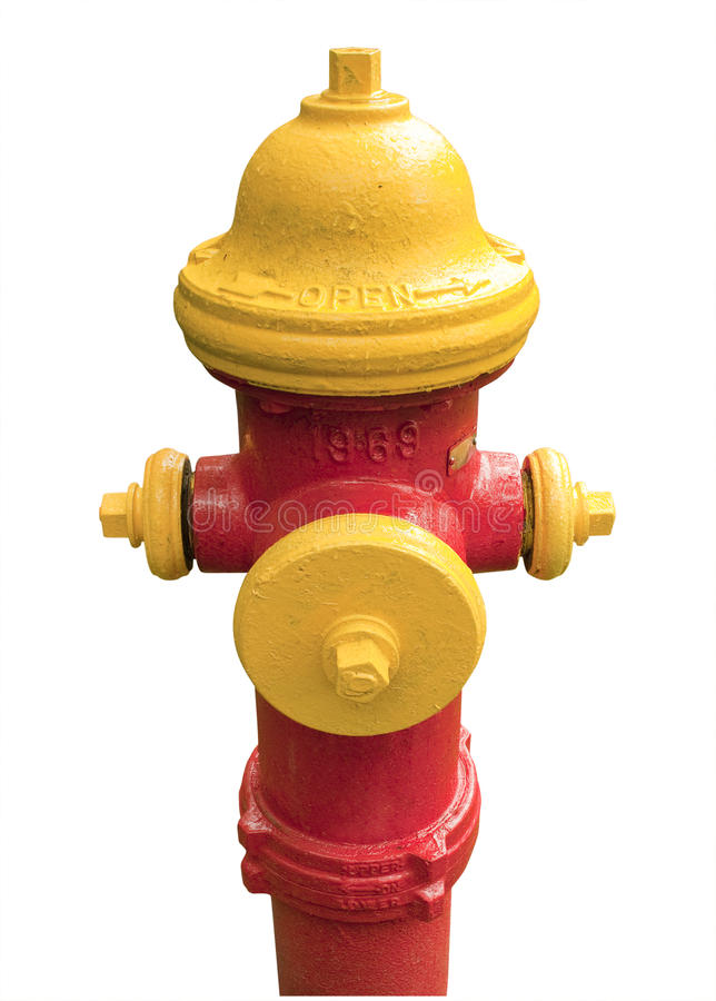 Download Red And Yellow Fire Hydrant, Isolated Stock Photo - Image: 19994100