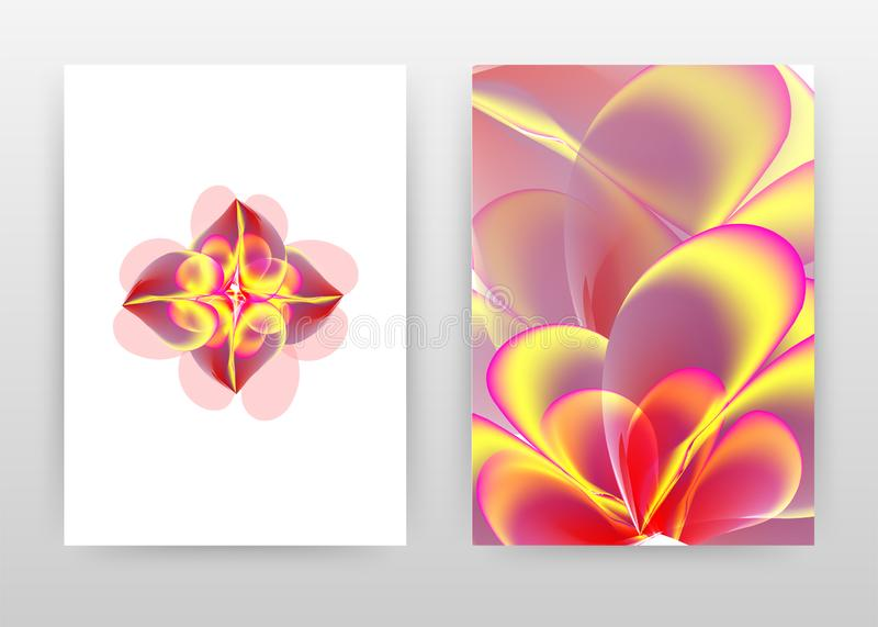 Red yellow flower petal concept design of annual report, brochure, flyer, poster. Red yellow flower background vector illustration. For flyer, leaflet, poster vector illustration