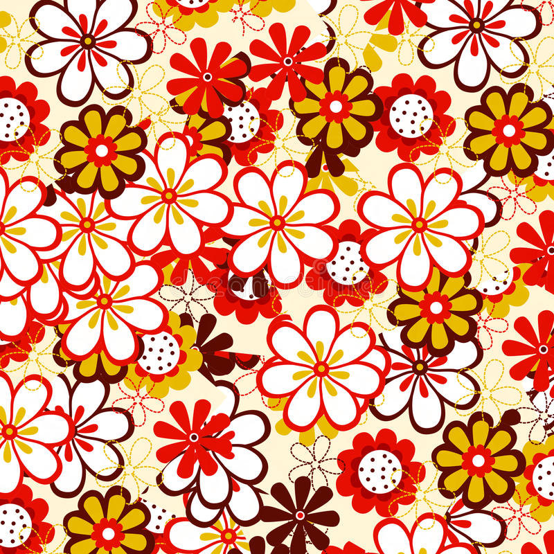 Download Red and yellow flowers stock illustration. Image of ornate - 13497545