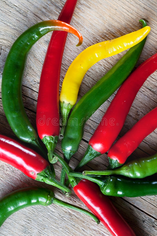 Download Red, Yellow And Green Chili Pepper Royalty Free Stock Photography - Image: 13129007