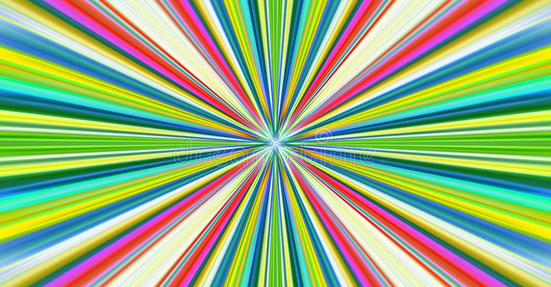 Explosion of colored light stock illustration