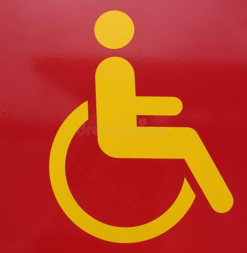 Red Yellow Handicap Wheelchair Symbol Stock Image Image Of