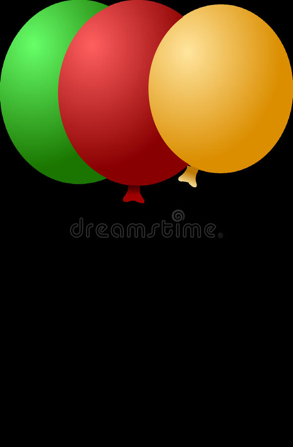 Red, Yellow, Orange, Balloon royalty free stock photos