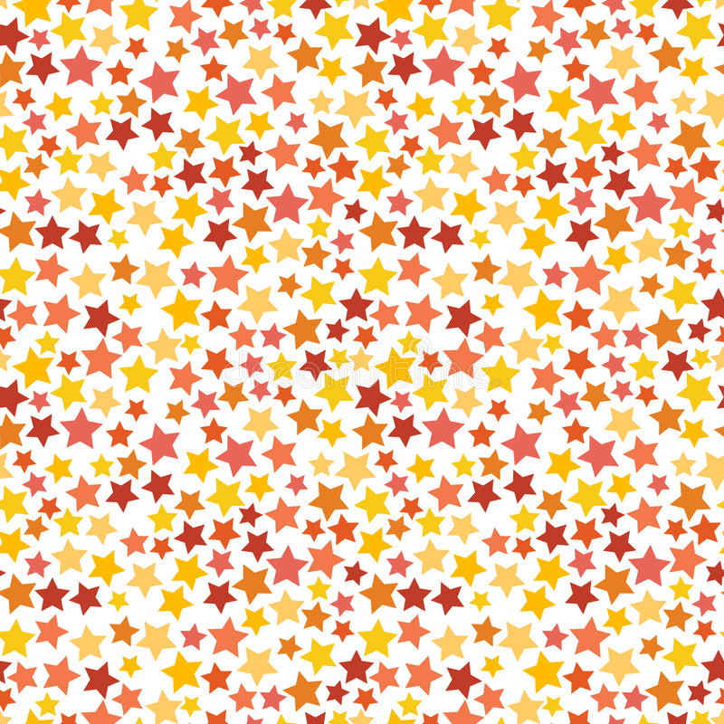 Red, yellow and orange stars on white seamless. Red, yellow and orange stars on white background seamless pattern vector illustration