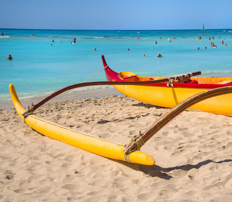 Outrigger Canoe, Waikki Beach, Oahu, Hawaii Editorial ...