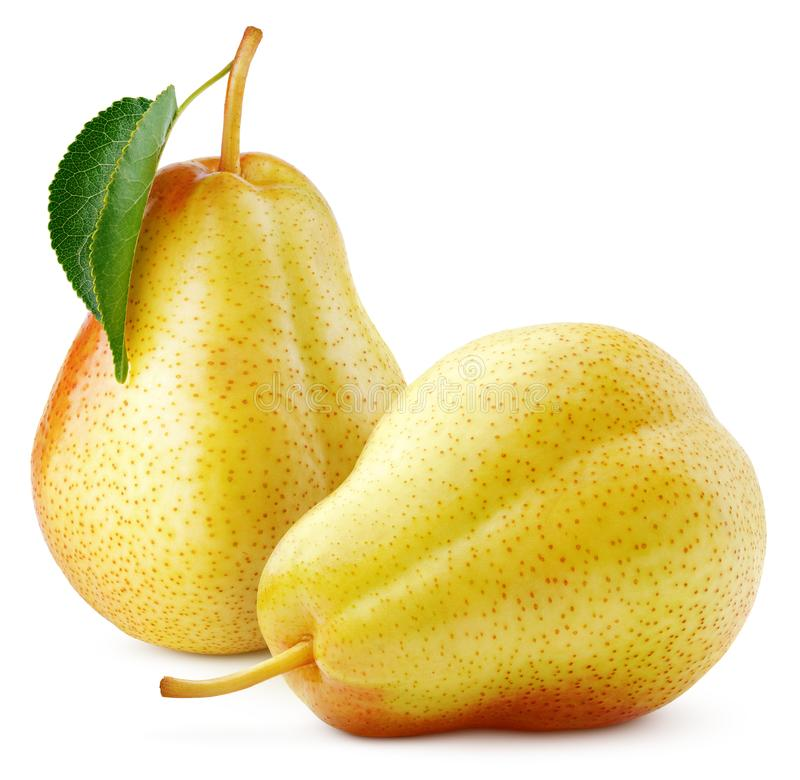 Free Red Yellow Pears Fruit Isolated On White Royalty Free Stock Photos - 165072958