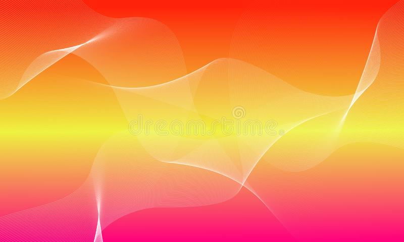 Red,yellow,pink and white wave background,wallpaper,vector illustration. Amazing abstract Red,yellow and white wave background with transparent shape background stock illustration