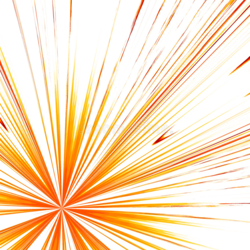 Red and yellow rays royalty free illustration