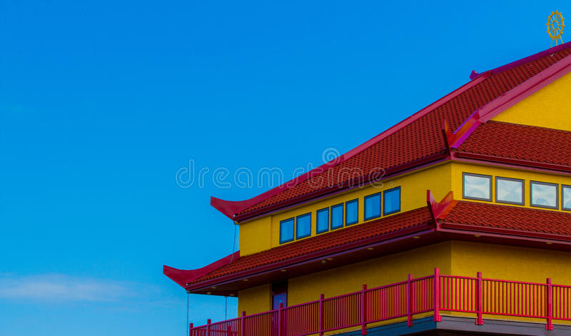 Red and Yellow rooftop royalty free stock photos