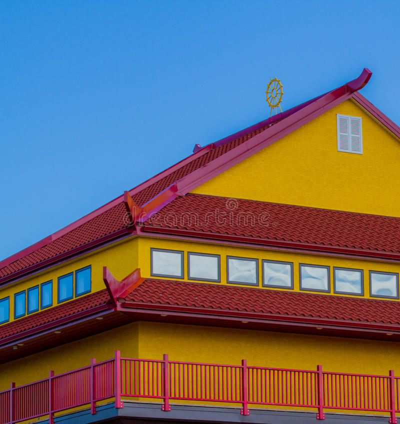 Red and Yellow rooftop royalty free stock images