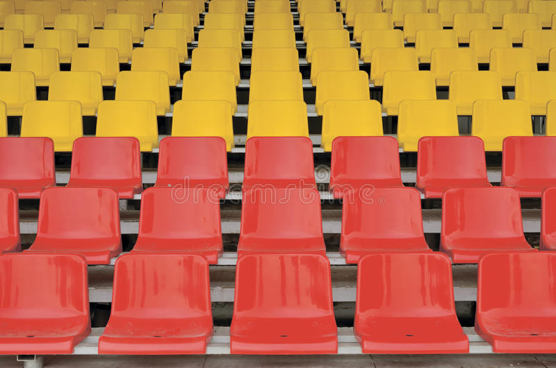 Red And Yellow Seats Stock Images