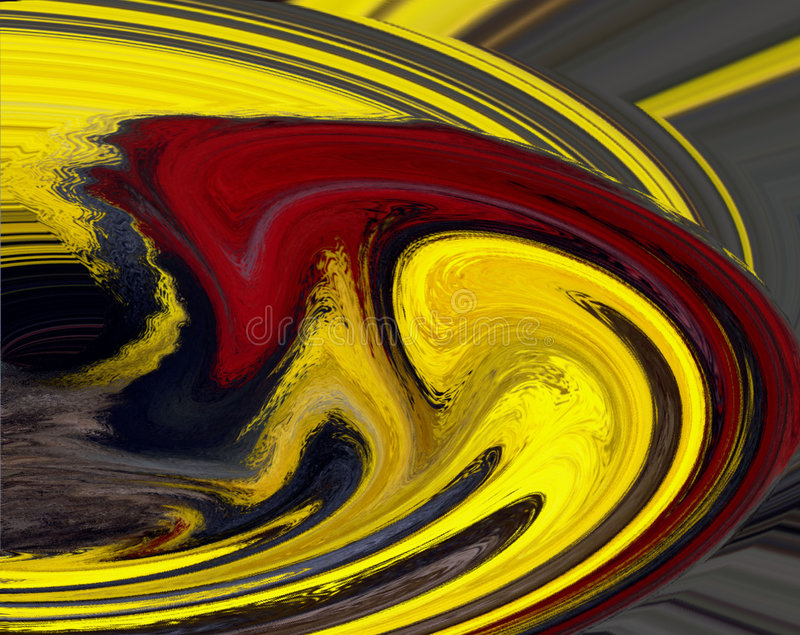 Red and Yellow Swirl royalty free illustration