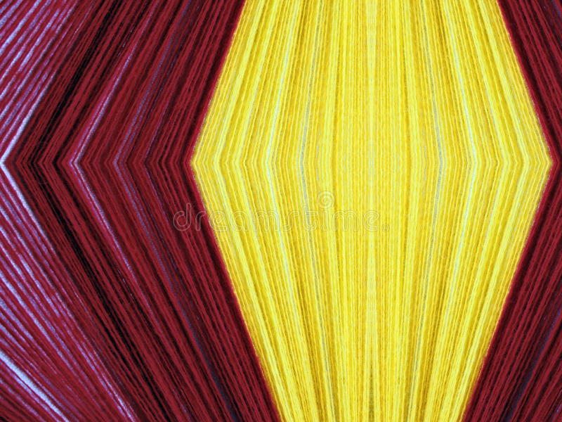 Red and yellow thread abstract royalty free stock photo